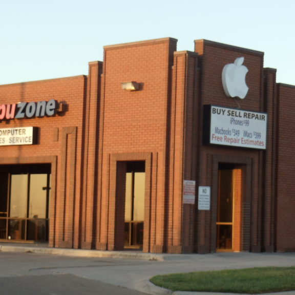 Compuzone is located on the corner of S. W.S. Young and Grandon